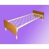 Одноярусные металлические кровати от производителя. Железные армейские кровати для казарм, кровати для подсобок. Опт. 800 руб