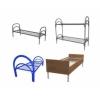 Одноярусные, трехъярусные металлические кровати для больниц, гостиниц, бытовок.Железные армейские кровати от производителя.опт